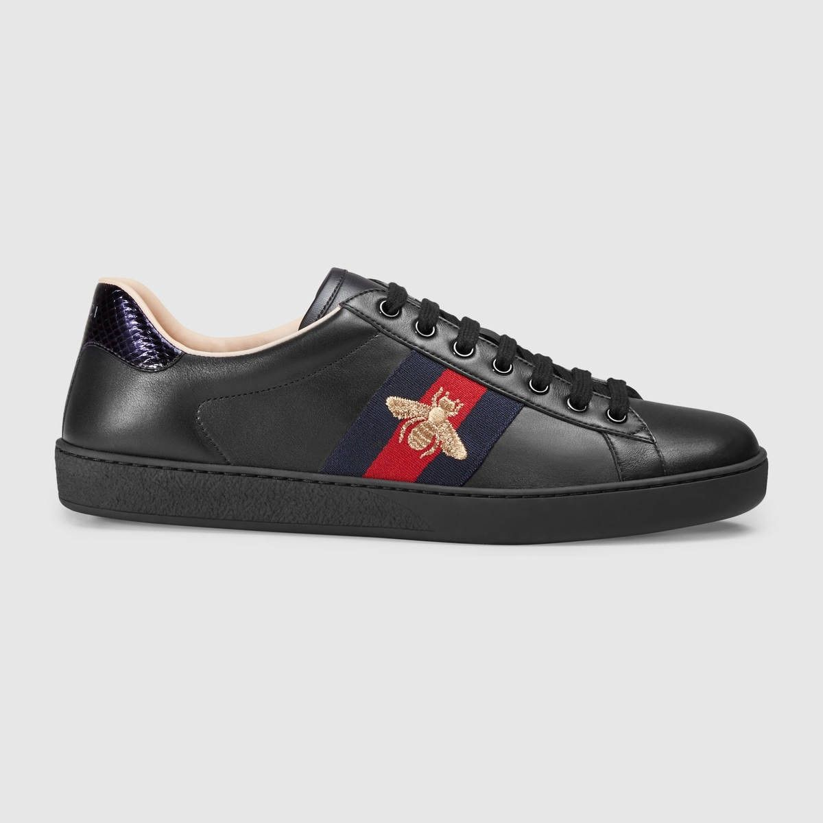 GUCCI Ace embroidered sneaker - black leather.  gucci  shoes ... c5047903565