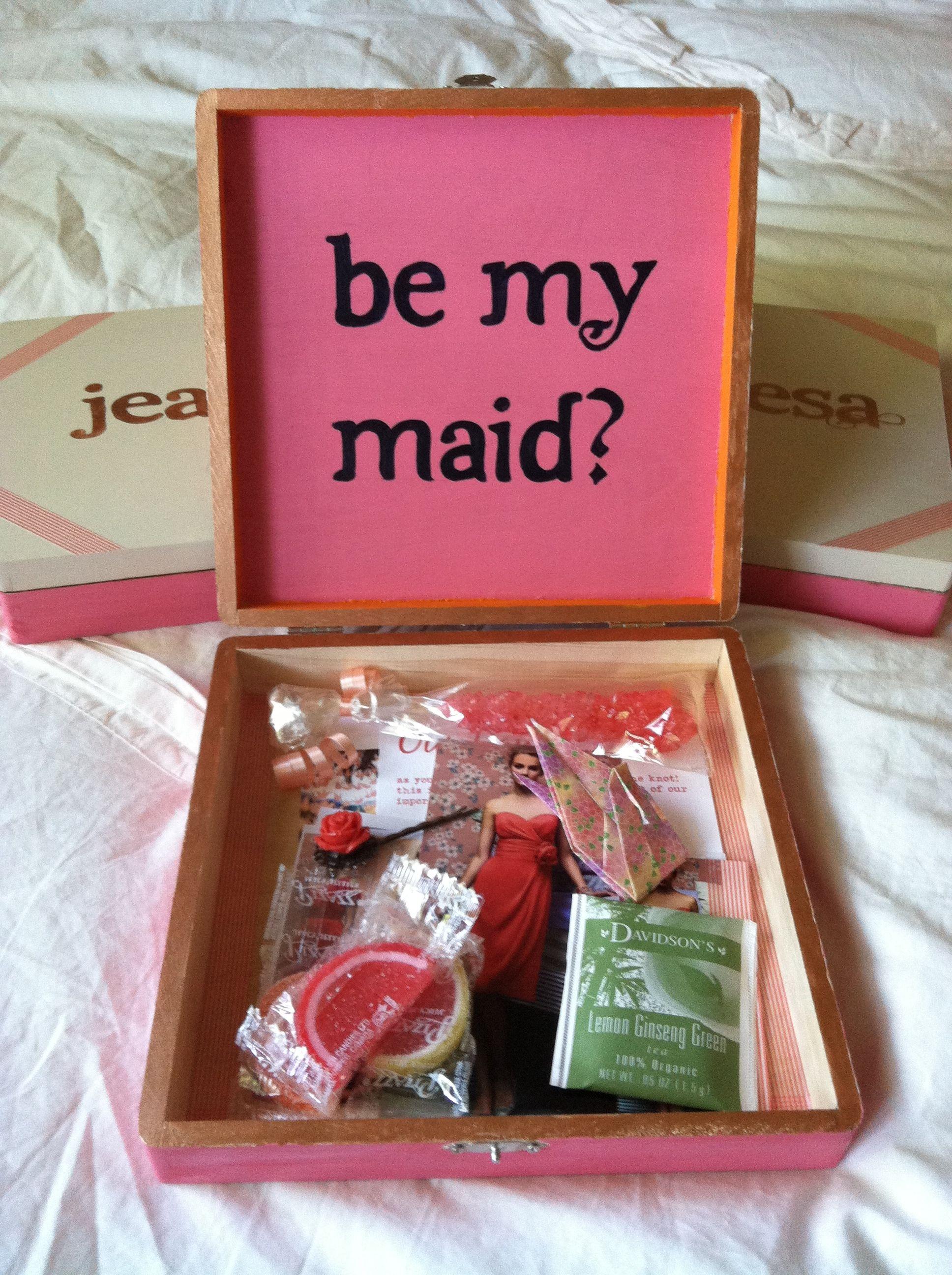 my version of the cigar box DIY - Be My Bridesmaid? | My wedding ...