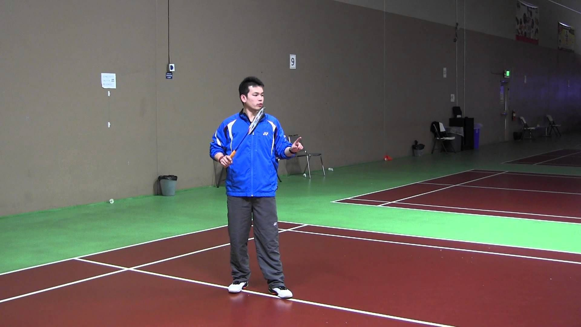Badminton Beginners Lesson 1 Basic Clear Motion Exercise Badminton Badminton Tips Beginner Lesson