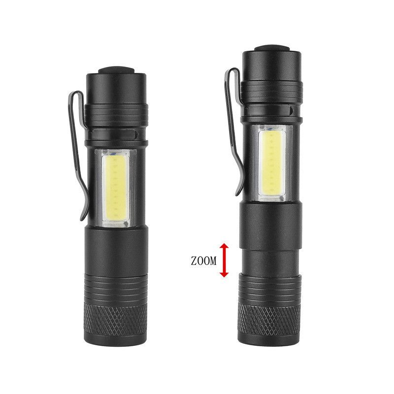 Outdoor 3500LM Pocket LED Flashlight Zoomable LED Torch Mini Penlight Light New