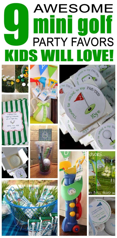Mini Golf Party Favor Ideas Best Kids Birthday Party
