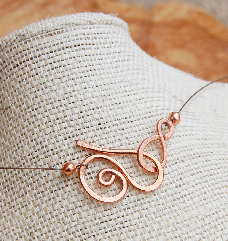 Minimalist. Copper. Double. Spiral. Necklace.. $20.00, via Etsy. | 1 ...