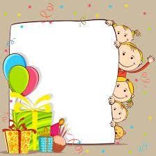 Resultado De Imagen Para Tarjeta Invitacion Dia De Los Niños