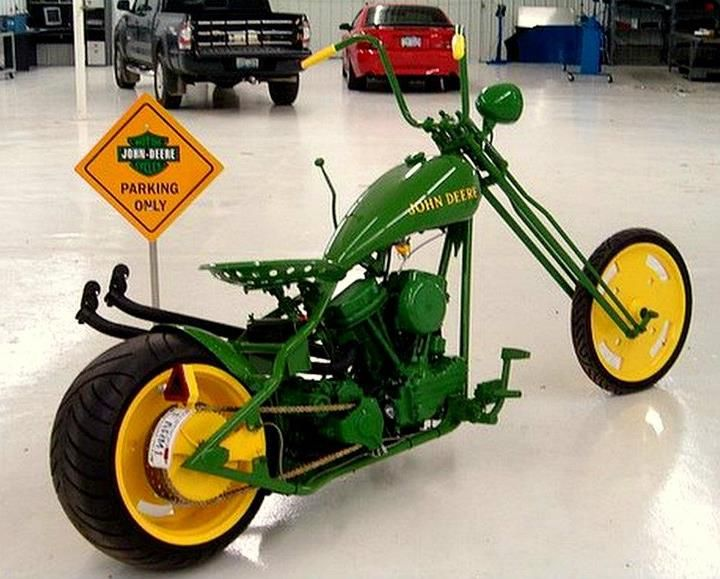 Tractor Seat Motorcycle : Cool john deere harley like the tractor seat