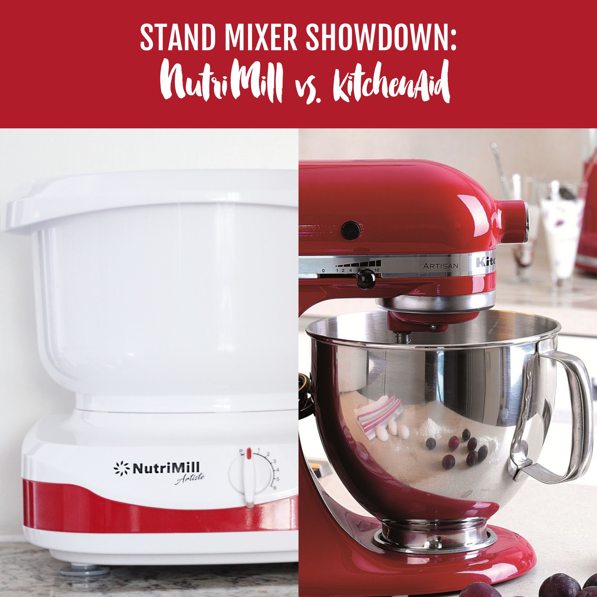 She Puts Nutrimill Versus Kitchenaid To The Test To Show You Which