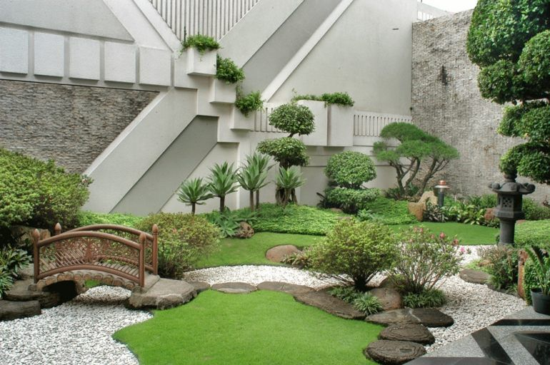 steingarten-anlegen-modern-japanischer-stil-buchsbaum, Terrassen deko
