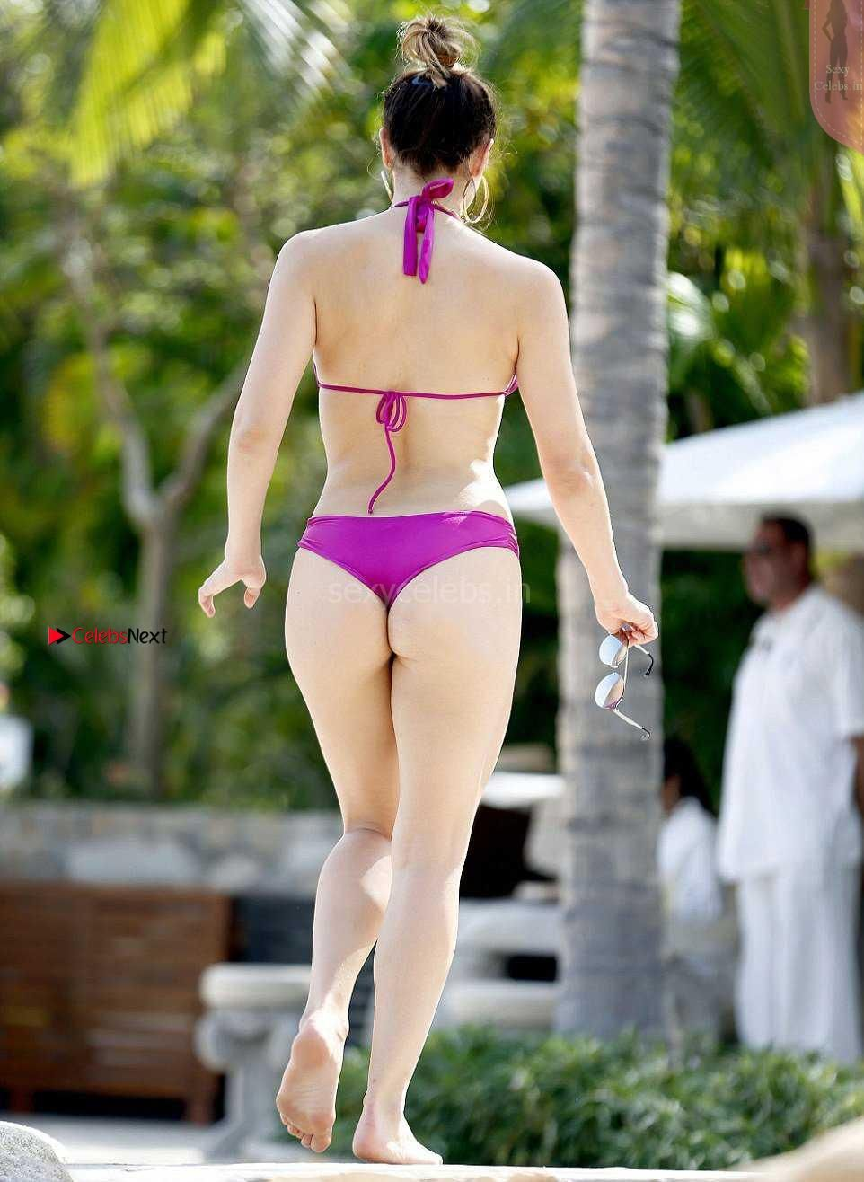 Katharine Mcphee Sexy Huge White Ass And Tits In Lovely Purple Bikini Thongs Wow Must See