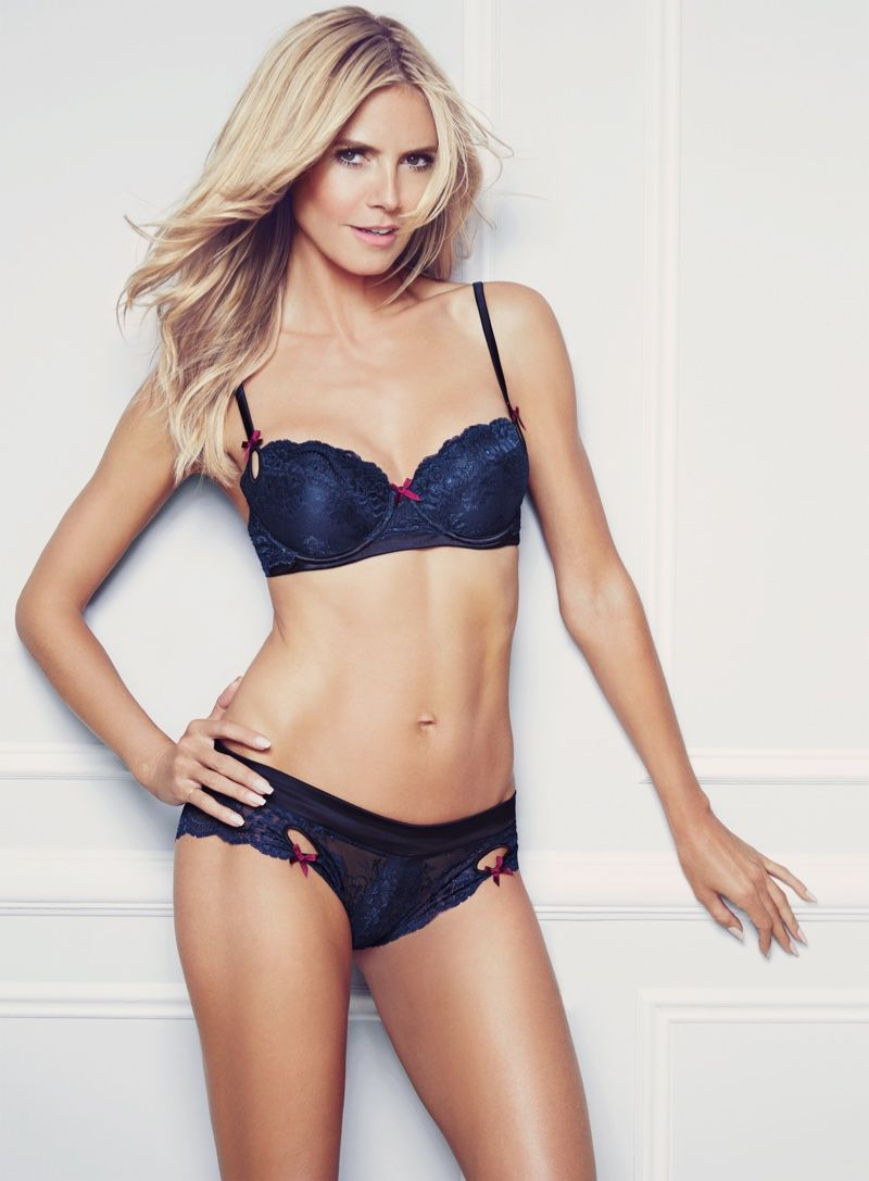 d68403eb8773e Heidi Klum Strips Down for Her Spring Intimates Campaign | In the ...
