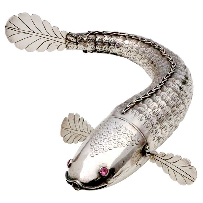 Articulated Silver Fish, 19th century, English ~