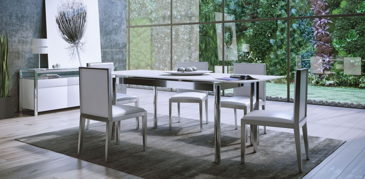 Cameron Extendable Table White Extendable Dining Table Dining