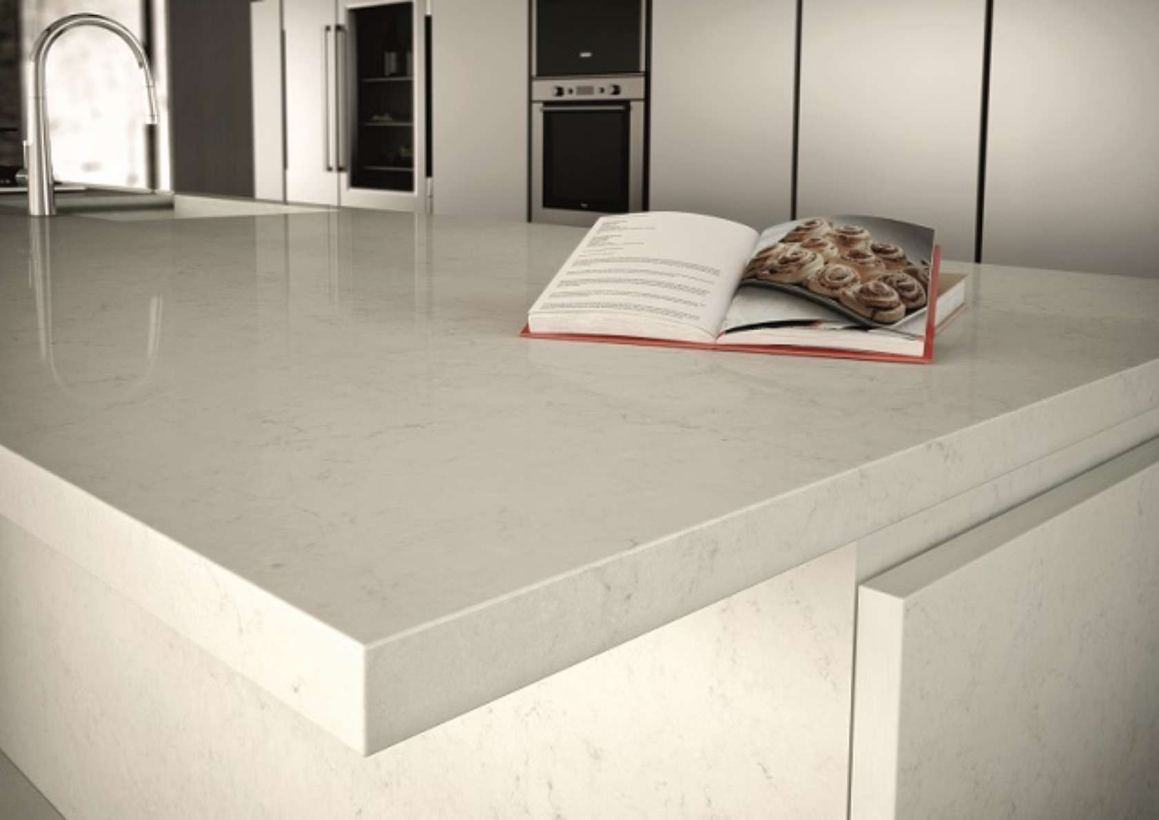 Caesarstone Frosty Carrina Kitchen Worktops Kitchen