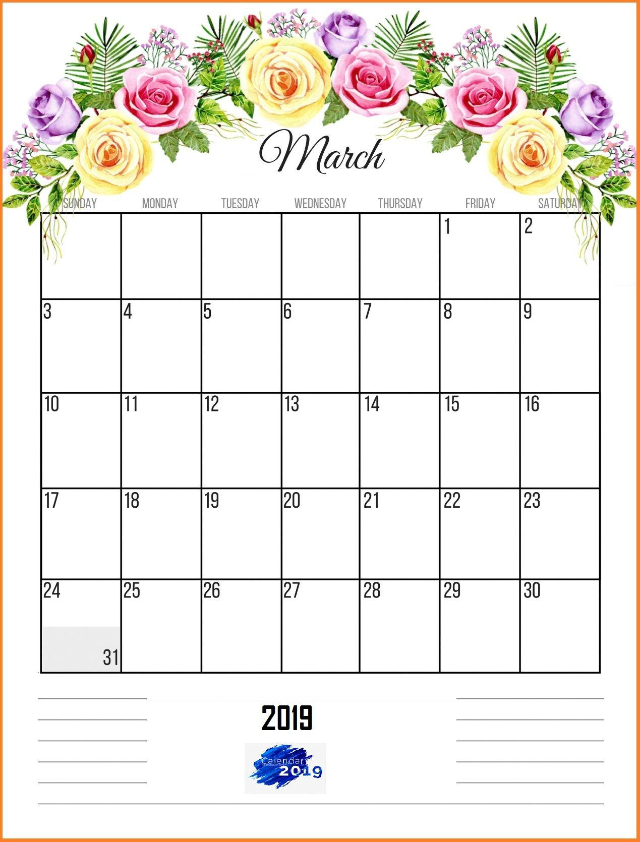 March 2019 Printable Calendar Calendar Wallpaper Calender