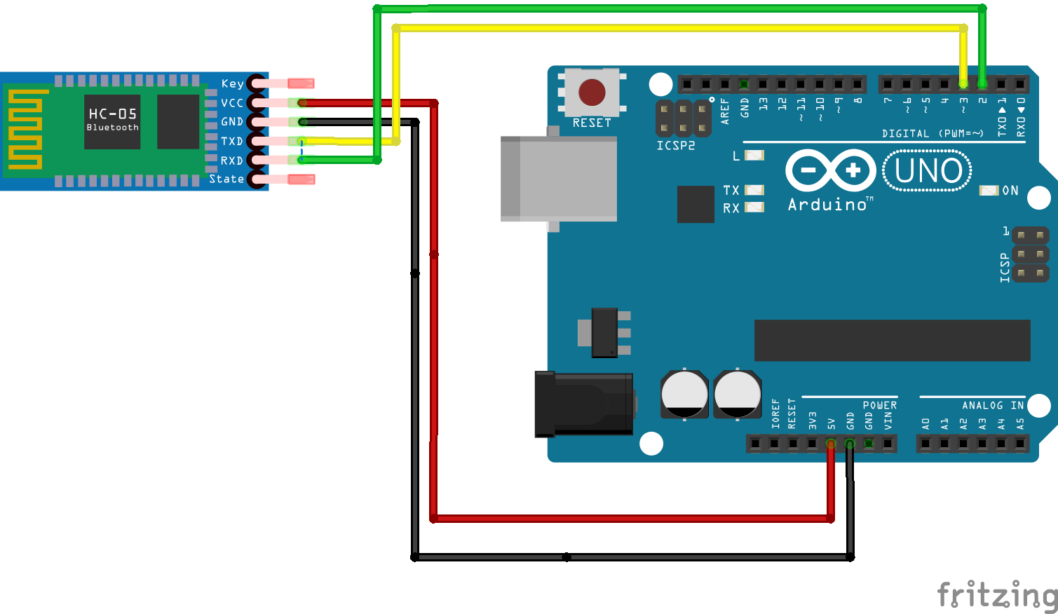 Arduino Bluetooth Tutorial Using Hc 05 Uno And A Mobile Circuit Diagram Of Device To Exchange Data Light Up An Led