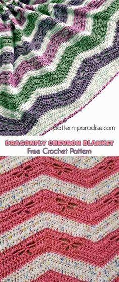 Dragonfly Chevron Blanket Free Pattern Pinterest Chevron Blanket