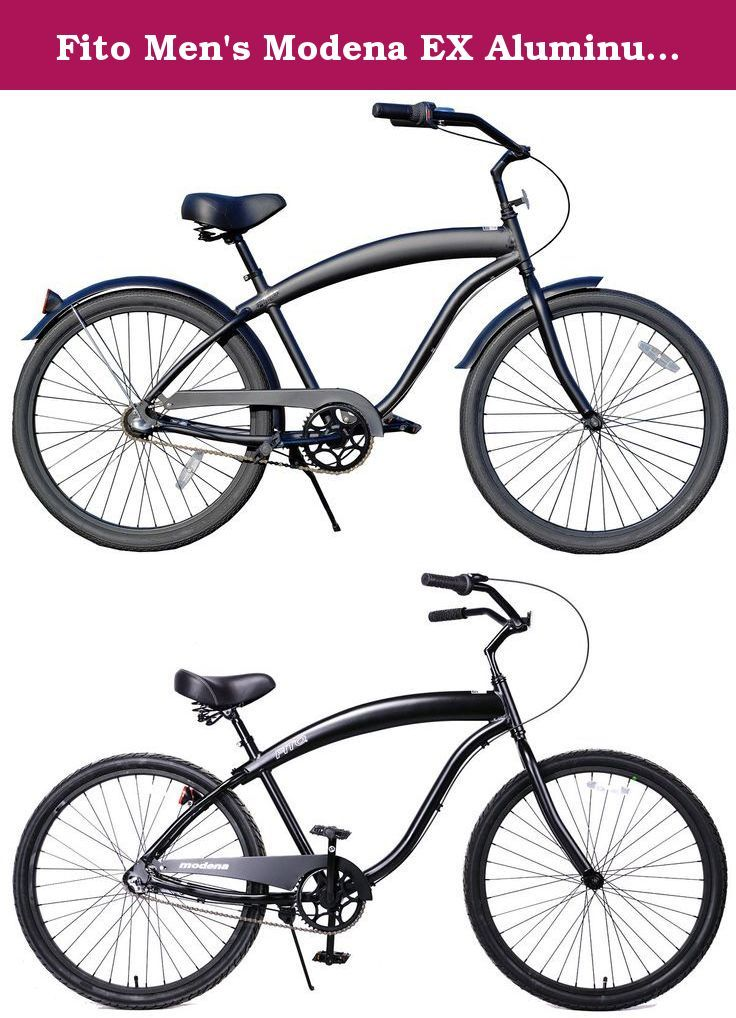 Matte Black Fito Marina Aluminum 3-speed Light Weight Mans Beach Cruiser Bike
