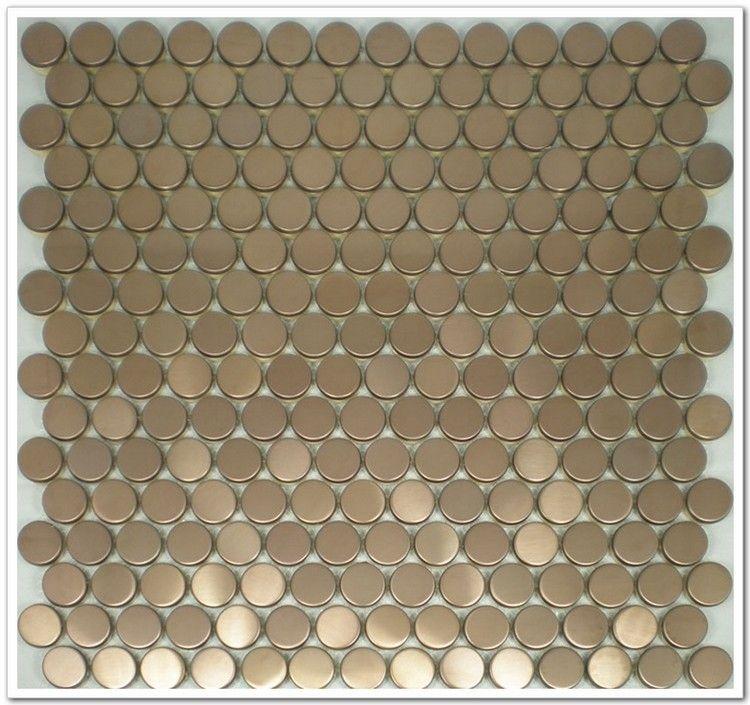 20mm Runde Rose Goldene Farbe Edelstahl Metall Mosaik Fliesen Für Küche  Backsplash Badezimmer Dusche Schlafzimmer Wohnzimmer Fliesen In 20mm Runde  Rose ...
