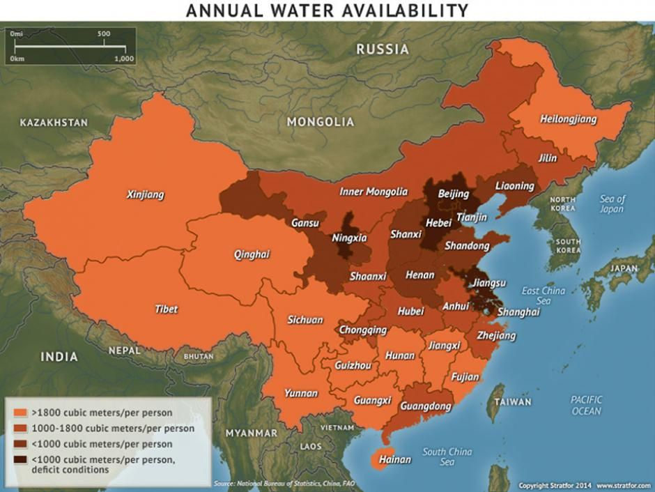 Chinau0027s Annual Water Availability httpinfostratforcomptlg Central