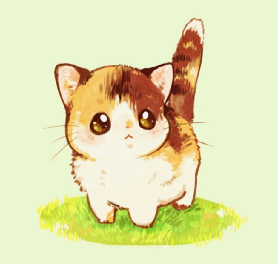 Kitten Cute Cat Drawing Cute Animal Drawings Kawaii Animals