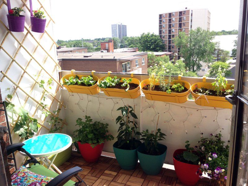 Apartment Balcony Container Garden Before And After 400 x 300