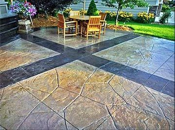 Stone Patio Ideas Backyard backyard landscape and patio design with outdoor fireplace ideas backyard landscape and patio design with outdoor fireplace ideas also curved stone Stone Flooring Backyard Patio Design Ideas Slate Patio Designs Slate