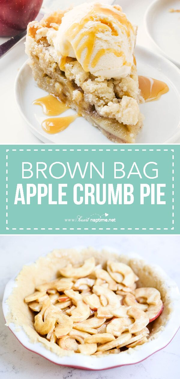 Easy Brown Bag Apple Pie #applepie
