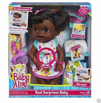 Baby Alive Real Surprises Talking Doll African American Spanish English Speaking Kids Stuff Baby Doll Toys Baby Alive Fake Baby Dolls