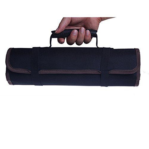 black Hense Large Wrench Roll Up Tool Roll Pouch Bag Big Tote Carrier Organizer Easy Storage /& Portable Best for Craftwork Handymen Repairmen HSZ-15-03