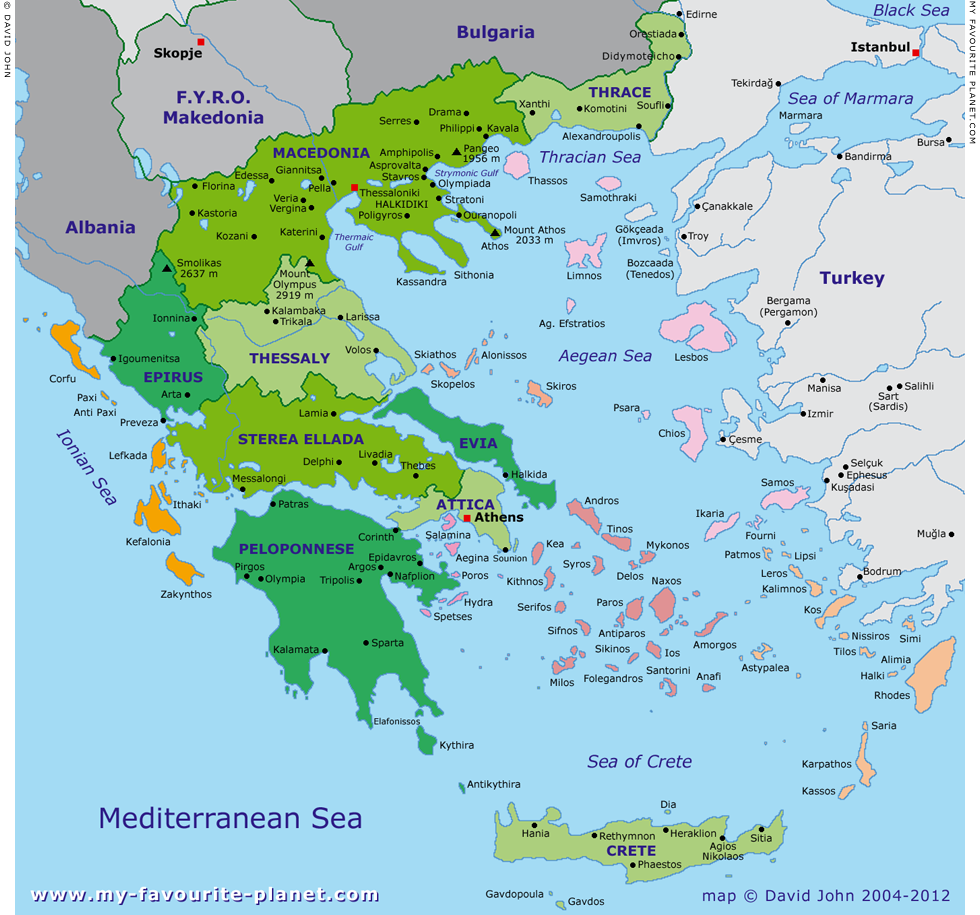 Map of Greek Islands | Greece | Greek islands map, Greece ...