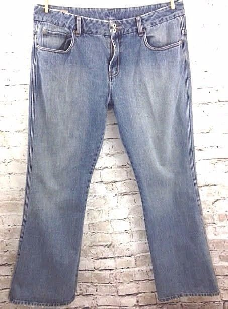 Buffalo Z Jeans Mens 38 x 32 Boot Cut Jeans Distressed Worn In Denim 100% Cotton #BuffaloJeans #BootCut