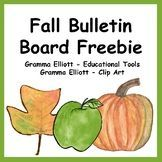 Fall Bulletin Board Freebie #fallbulletinboards Fall Bulletin Board Teaching Resources | Teachers Pay Teachers #fallbulletinboards