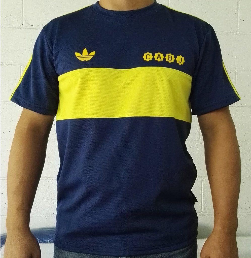 lowest price 9efe7 35caf promo code for ca boca juniors mens retro soccer jersey ...