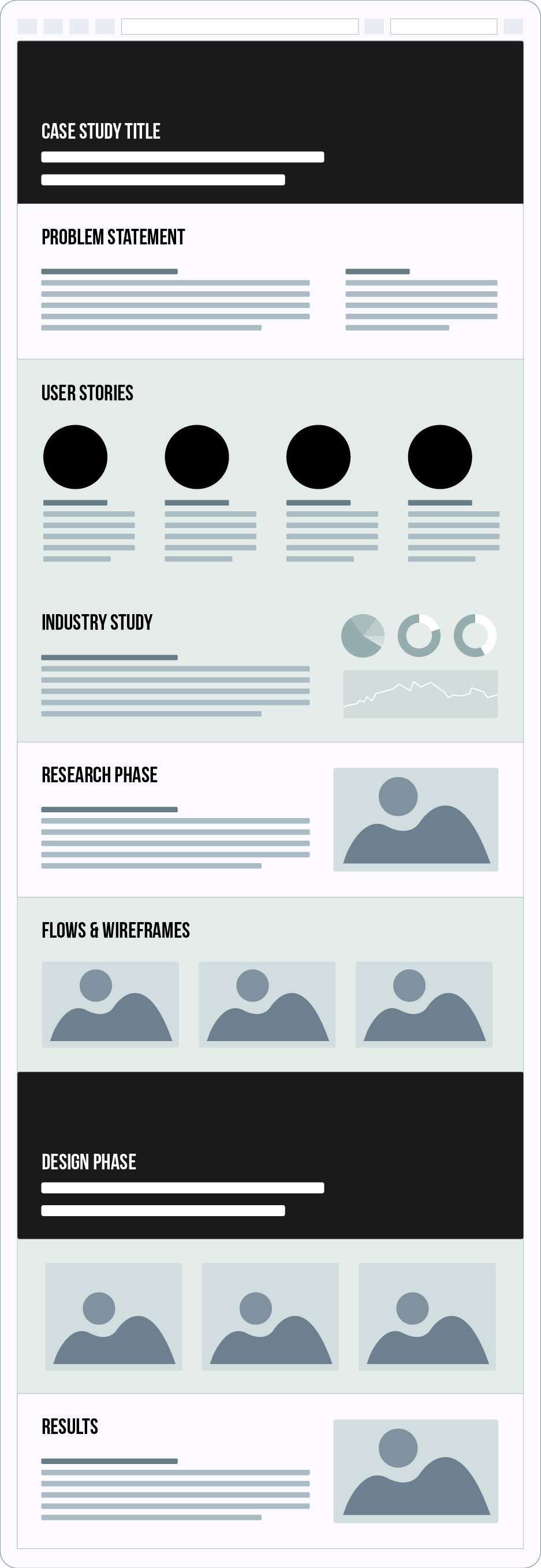 Ux Case Study  Free Wireframe Asset Eps  Wireframe User