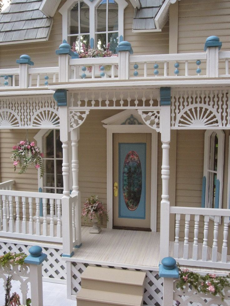 nothing quite as inviting as a victorian porch even in a doll house great gingerbread. Black Bedroom Furniture Sets. Home Design Ideas