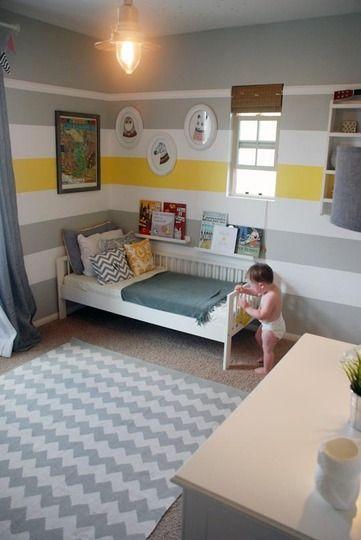 Wren Owen S Happy Striped Room Modern Kids Room Striped Walls