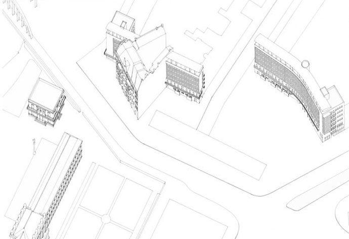 Risultati immagini per lindenstrasse apartments kollhoff