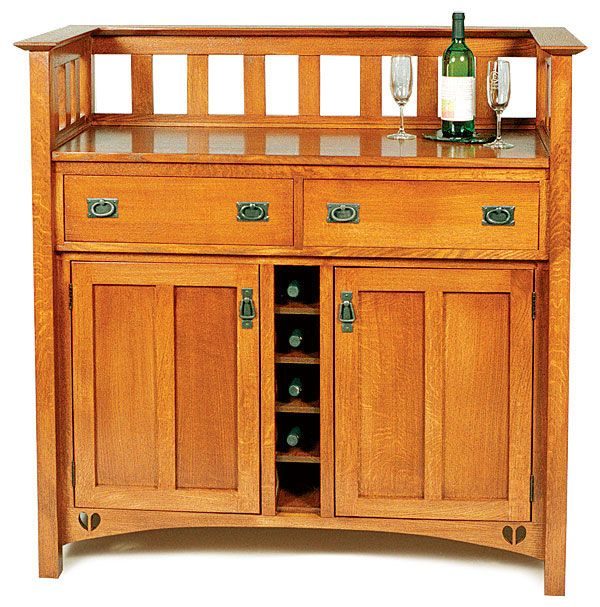 Arts And Crafts Wine Cabinet Reader S Gallery Fine Woodworking