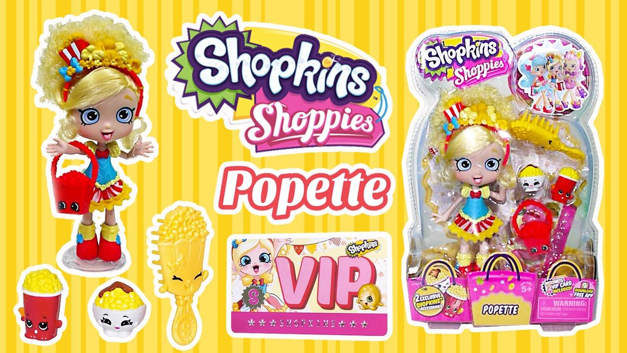 Shopkins Shoppies Popette Doll Unboxing + Shopkins App VIP Card | Kids P..