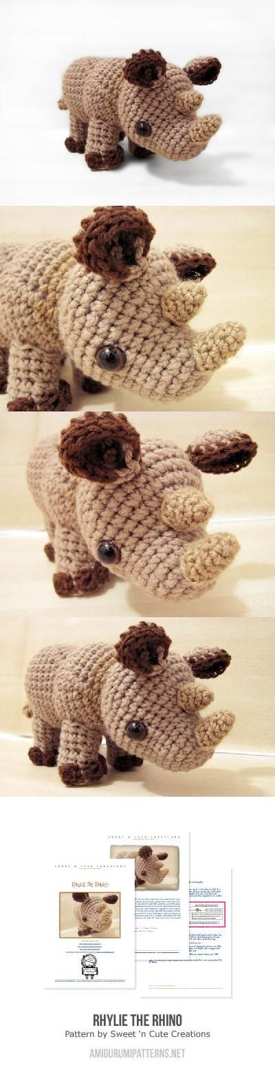 Little Rhylie the Rhino amigurumi pattern by Sweet N\' Cute Creations ...