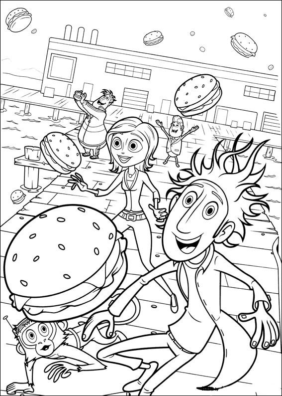 Cloudy With A Chance Of Meatballs Coloring Pages For Kids Printable Online 8
