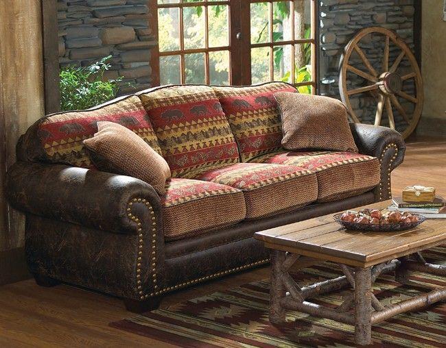 Bear Creek Sofa Rustic Sofa Cabin Furniture Log Cabin Furniture