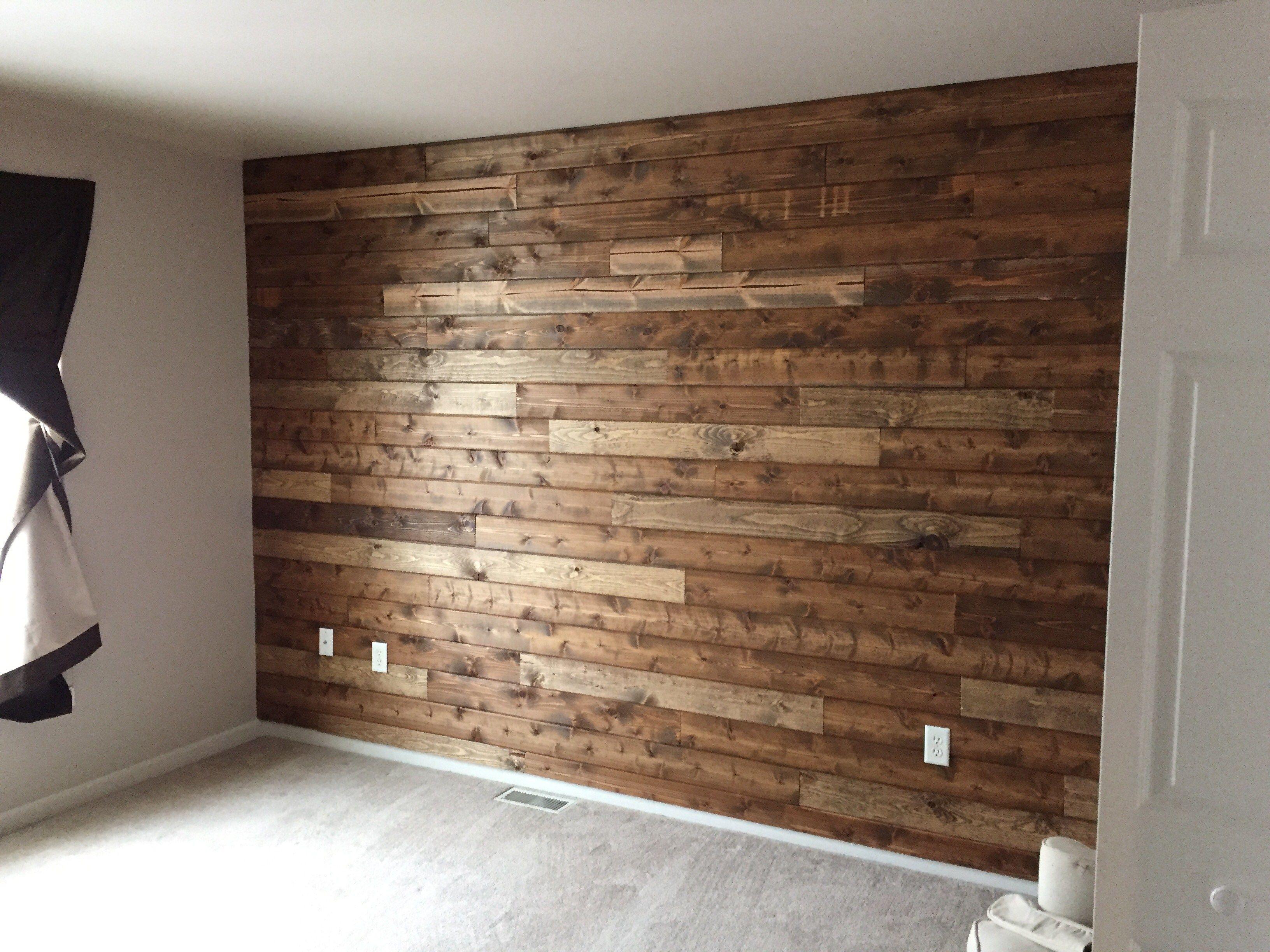 Men cave Wooden Accent Wall Tutorial