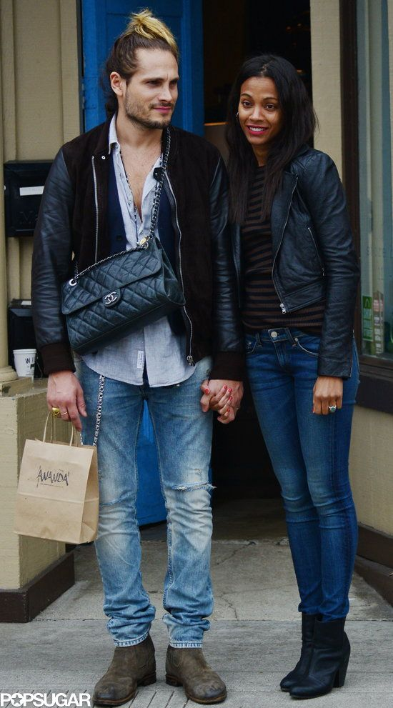 Zoe Saldana and husband Marco Perego. such a cute couple