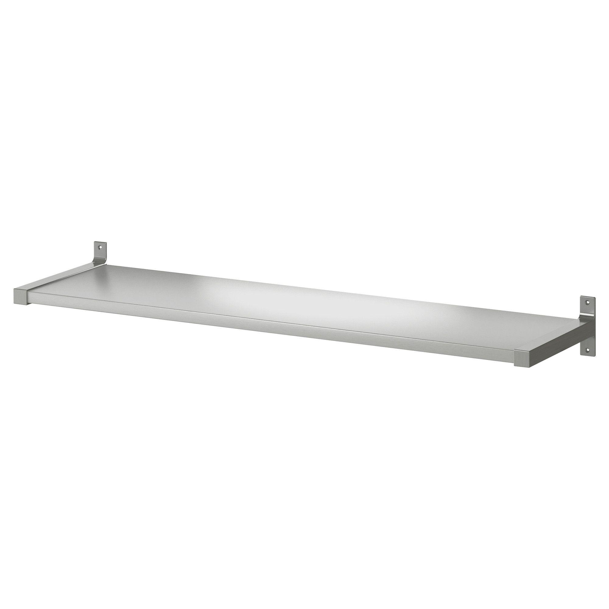 "Ikea Modern Stylish Ekby Mossby shelf shelves stainless steel 46 7//8/"" x 11/"""
