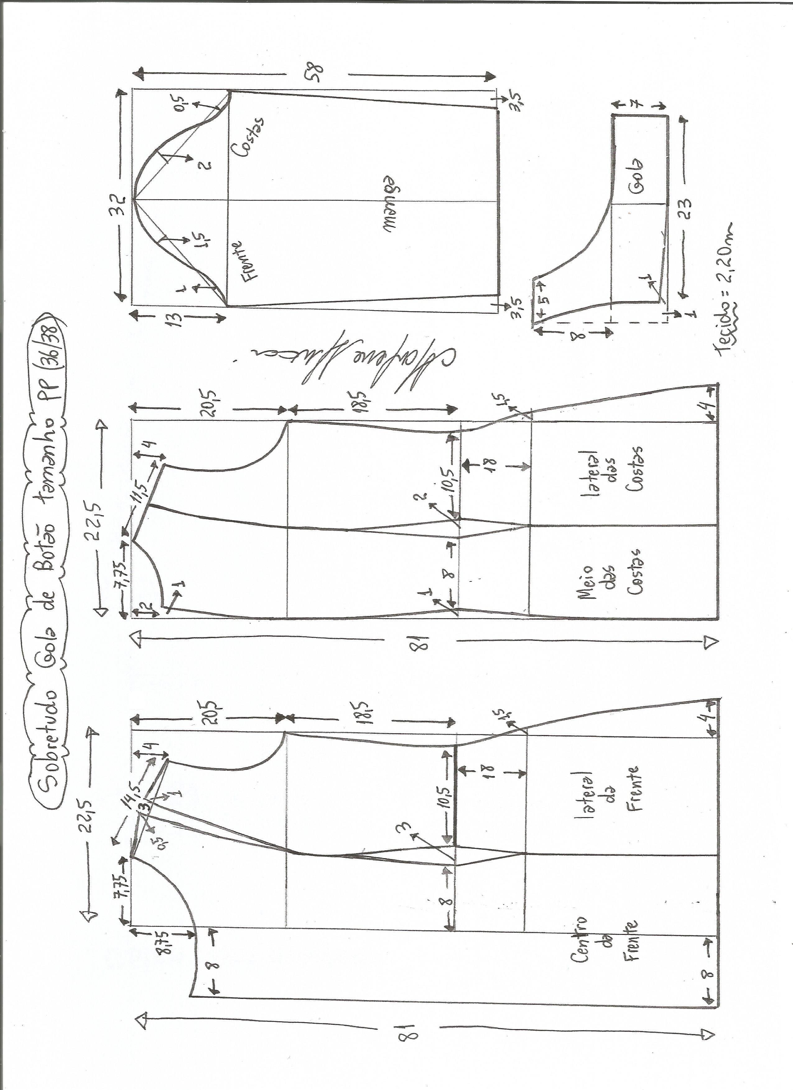 Patrón de abrigo abotonado | Pinterest | Abrigos, Patrones y Costura