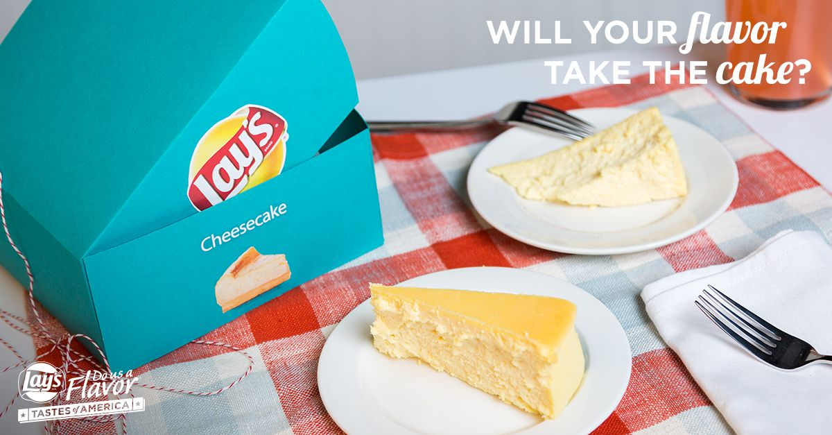 It's true! Your favorite dessert could be the next Lay's Wavy, Original, or Kettle Cooked chip! Submit your sweet (or savory!) flavor ideas for a chance to win $1 million. See rules. www.DoUsAFlavor.com