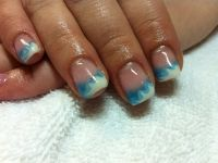 Cool Blue French Manicure Designs