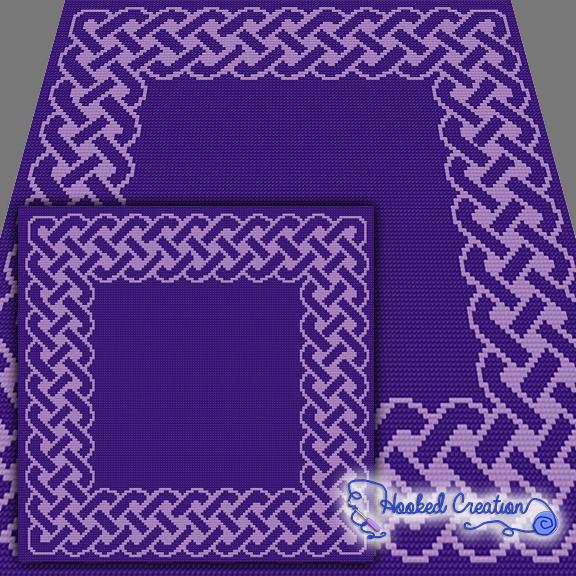 Celtic Knot Sc Baby Blanket Crochet Pattern - PDF Download ...