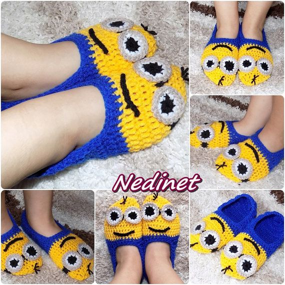 Crochet Minion slippers shoes baby toddler by NedinetCreations ...