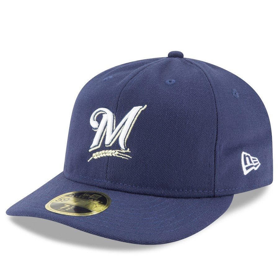 new arrival 2a63f fe9d0 Men s Milwaukee Brewers New Era Navy Fan Retro Low Profile 59FIFTY Fitted  Hat, Your Price   31.99
