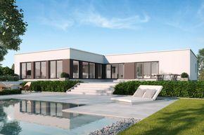 Flachdachbungalow Modern gussek haus toulouse einfamilienhaus toulouse
